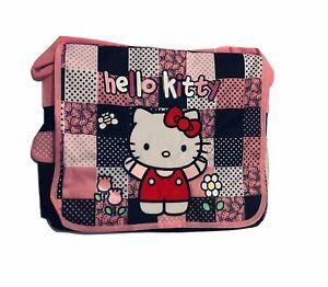 Hello Kitty Black Checker Messenger Bag Large Backpack Purse Women/Girls