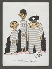 [63822] OLD WWII ANTI-NAZI POSTCARD ARTIST SIGNED A.G. Smits (Ton Smits)