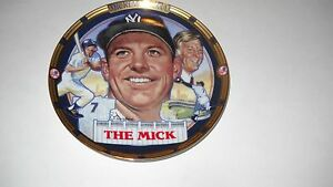 """""""THE MICK"""" MICKEY MANTLE 1995 COLLECTORS PLATE--THE HAMILTON COLLECTION #2"""