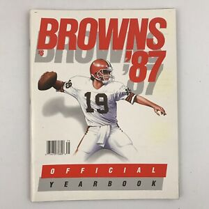 1987 Cleveland Browns Official Yearbook Bernie Kosar w/ Ozzie Newsome Autograph