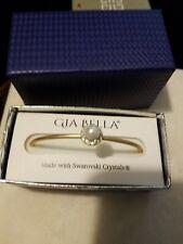 Cuff Bracelet,  Gia Bella  faux pearl bracelet made with  Swarovski Crystals NWT