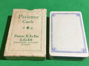 TAX WRAPPED Sealed Old Vintage De La Rue FLOWERS Patience Playing Cards Cartes