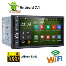 "Quad Core Android 7.1 4G WIFI 7""Double 2DIN Car Radio Stereo No DVD Player GPS K"