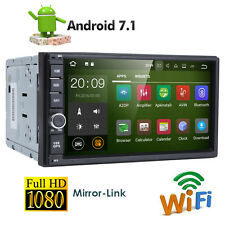 "Quad Core Android 7.1 4G WIFI 7""Double 2DIN Car Radio Stereo No DVD Player GPS N"