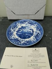 Wedgwood Blue and White Collection Queens Ware Plate - Courting Couple