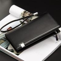 Men's PU Leather Wallet Bifold ID Card Holder Long Clutch Billfold Money Purse