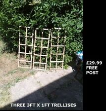 3 x Garden Trellis 3FT x 1FT Recycled Wood Witham Essex  Collect  Post Deliver