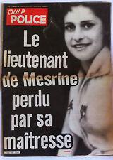 QUI ? Police du 17/01/1980; Le Lieutenant de Mesrine perdu par sa maîtresse