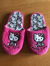 Next Pink Hello Kitty Slip On Slippers Size 11