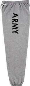Grey Army Physical Training Gym Military Sweatpants