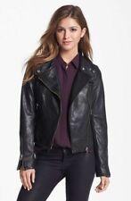 women leather jacket soft solid lambskin new handmade motorcycle biker coats S07