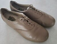 SAS Womens Size 10.5 Taupe Leather Oxford Lace-up Tripad Comfort Shoes