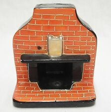 """Dollhouse Miniature Furniture Ceramic 4"""" Fireplace by Gold Castle Made in Japan"""