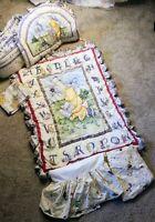 Winnie the Pooh Bassinet Alphabet Crib Bedding Bumper Valance Comforter Skirt...