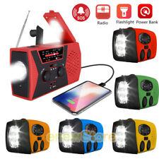 Emergency Solar Radio AM FM NOAA LED Flashlight Weather Forecast Phone Charging