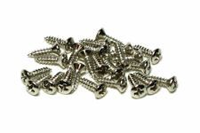 Pickguard and Backplate screws Nickel for Fender® guitars  25 Stück