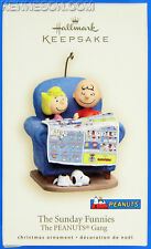 The Sunday Funnies Charlie Brown & Sally The PEANUTS Gang Hallmark Ornament 2007