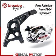 Pinza Posterior Freno Brembo Racing P2 34 CNC SS Pastillas soporte Honda Nickel
