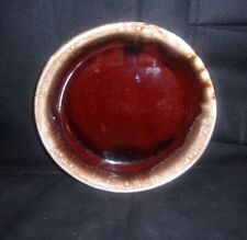 """VINTAGE BROWN DRIP GLAZE OVEN PROOF 6 5/8"""" Bowl  POTTERY"""