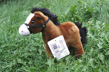 Pferd, stehend (dunkelbraun) 20 cm mit Stimme