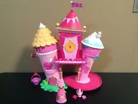 3 Mini Polly Pocket Playset Dolls Heart Shaped Polly Lila VHTF