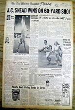 1971 hdlne newspaper J C SNEAD wins TUCSON OPEN GOLF TOURNAMENT w 60 yard EAGLE