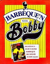 BARBEQUE'N WITH BOBBY SEALE COOK BOOK 1988 1ST ED INSCRIBED BY AUTHOR PANTHERS