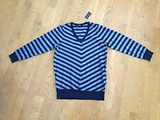 The Limited Blue Chevron V-Neck Long Sleeve Top Small NWT~Submit An offer!