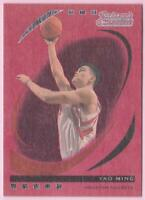 YAO MING 2006-07 TOPPS TRADEMARK MOVES WOOD RED #32/35 ROCKETS