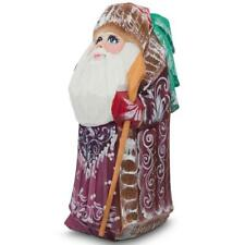 Hand Carved Wooden Santa Claus Figurine 4.75 Inches