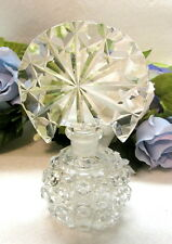 Art Deco Heavily Cut Crystal Perfume Bottle With Tiara Stopper #8