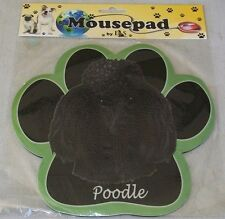 POODLE Black Dog Paw Shaped Computer MOUSE PAD Mousepad NEW IN PACKAGE