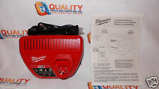 *New* Milwaukee 48-59-2401 M12 Li-Ion Red Lithium 12V  Battery Charger