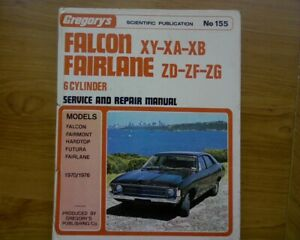 1970 - 76 Ford XY XA XB Falcon ZD ZF ZG Fairlane Workshop REPAIR MANUAL book