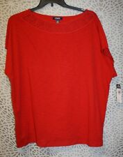 NWT Women's Chaps S/S Knit Top - 3X - $56 - red