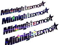 Midnight Edition Auto Aufkleber Hologramm Oilslick Autoaufkleber Cyber Hexagon