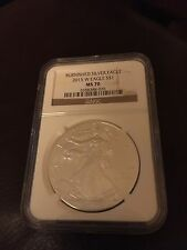 2015W Burnished American Silver Eagle MS 70