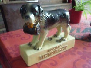 Plâtre Publicitaire St Bernard Cognac HENNESSY Céramique Faïence de NEUNDORF