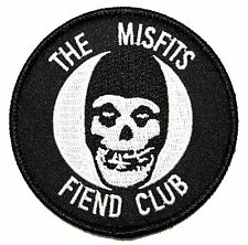 """The Misfits: Fiend Club"" Ghost Horror Punk Band Mascot Iron On Applique Patch"