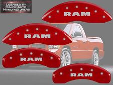 "2002-2005 Dodge ""Ram"" 1500 Front + Rear Red MGP Brake Disc Caliper Covers"