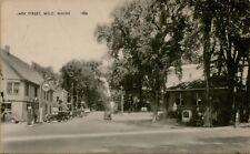 1956 Park Street View Tydol Gas Pumps Classic Old Cars Milo Me Postcard C3