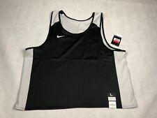 Nike Elite Mens Large Reversible Lacrosse Tank Jersey Nwt Black/Gray 846361 H5