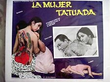Mexican Vintage Film Poster Titled  Tattooed Woman w Tattoo on Woman's Back *