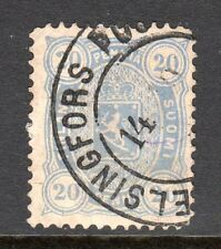 Finland - 1875 Def. Coat of Arms Mi. 16Bxb FU (Perf. 12,5, thinned)  a