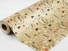 XMAS MODERN LUXE WREATHS GIFT WRAPPING PAPER 50cm x 5 METERS