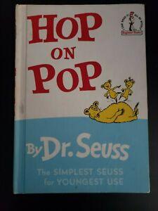 Hop on Pop Book Dr Seuss Hardcover HC 1963 1st Edition Vintage Original Copy