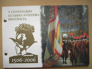 """Numisbrief Vatikan 2006 mit Münze und Briefmarken """"500 Jahre Schweizer Garde"""""""