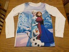 Burton Youth's Frozen Anna Elsa Olaf Long Sleeve Tech Tee XL Good Pre Owned!