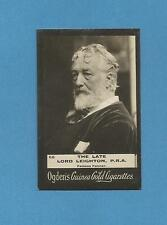 RARE 116 YR OLD LORD LEIGHTON PAINTER ARTIST PHOTO ANTIQUE CARD