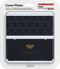 NEW Nintendo 3DS Cover Plate Legend Of Zelda Triforce Logo Black NINTENDO